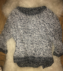H&m őszi szürke kötött pulóver elegáns