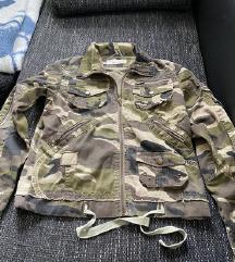 Terepszínű khaki női tavaszi kabát M-L