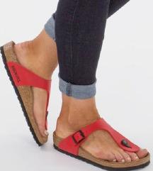 Birkenstock piros papucs