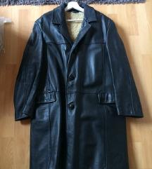 Valódi bőr VINTAGE hosszú kabát