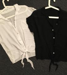 Nyári lezser ingek fehér - fekete - vadiújak