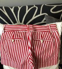 Zara piros fehér csíkos, új rövidnadrág XS méret