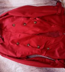 40-es piros átmeneti kabát