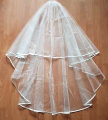 ÚJ, anyagában csillogós menyasszonyi fátyol – EKRÜ
