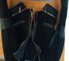 Szövet-Műbőr kabát