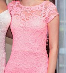 H&m neon rózsaszín csipkés ruha