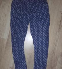 H&M kék mintás viszkóz nadrág,s-m