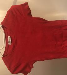 piros bordázott póló