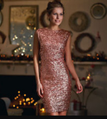 Rose gold alkalmi ruha 38-as