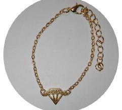 ÚJ arany színű bizsu karkötő - gyémánt