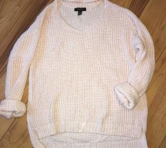 Babarózsaszín choker pulóver