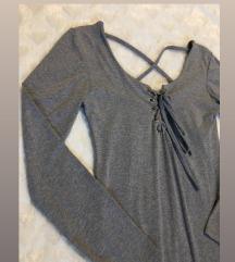 Szürke bodycon ruha