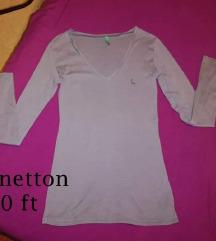 Benetton szürke hosszúujjú S