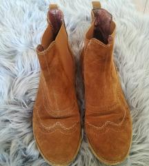 Barna műbőr őszi cipő