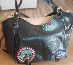 Desugual Rotterdam Audrey fekete hímzett táska