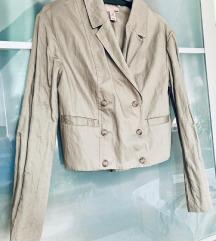 H&M új lecimkézett taupe színű blézer 38-40