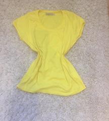 Élénk sárga rövid ujjú póló