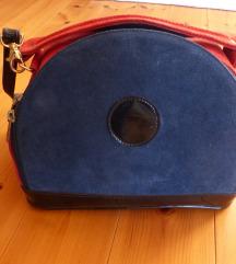 Kék-piros elegáns táska