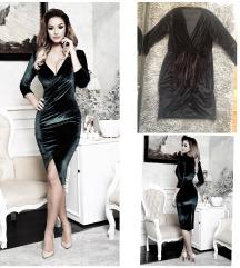 Fekete Bársony ruha L-XL