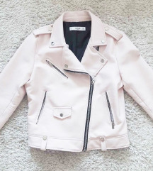 Mango rózsaszínű műbőr dzseki