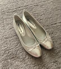 ▫️Tamaris ezüst bőr cipő (uj!)▫️
