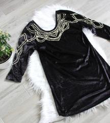 Új Olasz alkalmi ruha tunika gyöngyökkel M-L