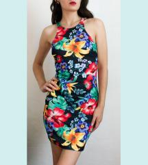 ♥ trópusi bodycon ruha