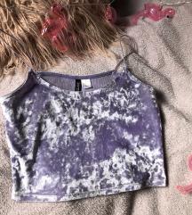 Bársony lila póló