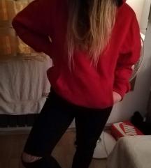 Piros oversized pulcsi