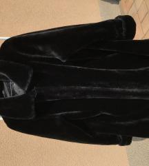 fekete műszőr meleg bunda