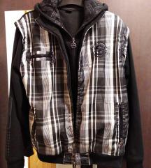 Férfi kockás kabát / pulóver