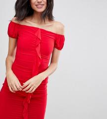 Piros midi ruha