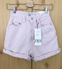 Zara rózsaszín farmer short