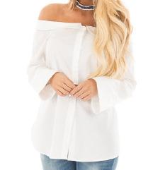 Off-shoulder fehér  blúz /ing