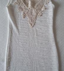 Fehér Csipke rátétes ruha S