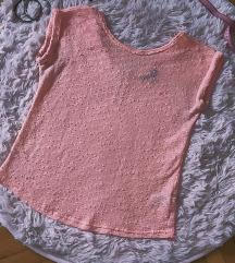 Rózsaszín csipkés felső