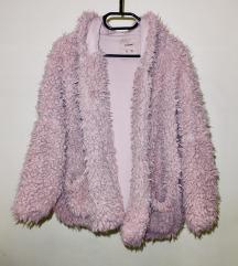 Pull&Bear rózsaszín kapucnis bunda (oversize)