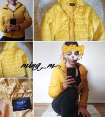 Bershka mustársárga kabát