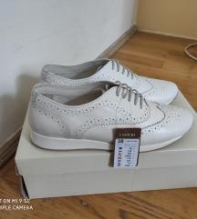 Új! Bőr!CCC Fehér elegáns sportcipő/ fűzős cipő