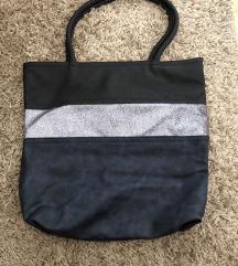 Csíkos shopper táska