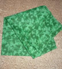 Új - Zöld batikolt pamutvászon anyag 125x140 cm