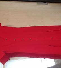 H&M maxi piros ruha 34