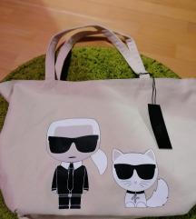 eredeti Karl Lagerfeld shopper tote, új, címkés