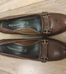 Tamaris őzbarna bőrcipő