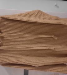 Új camel Zara knit jumper dress
