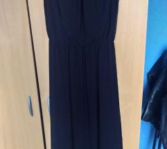 Hosszú, fekete nyári ruha