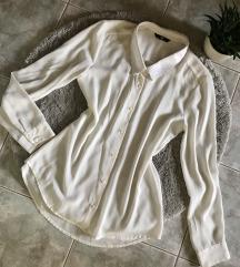 H&M flitteres fehér ing S