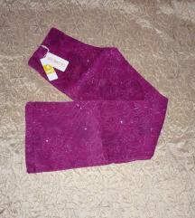 Új - Glorious pink-ezüst különleges női nadrág - M