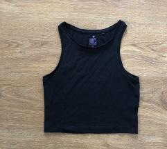 C&A basic, fekete crop top