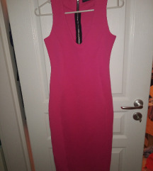 Missguided pink rózsaszin M-es bordázott ruha